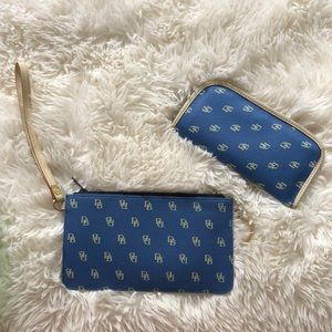 Dooney and Bourke wristlet and eye glass case